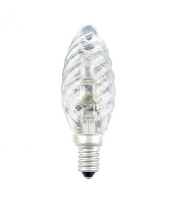 Blister 2 lampes éco halogene flamme torsadée 42W E14 230V